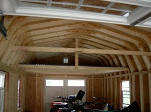 The new loft in the new barn