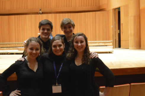 Our ACDA participants with their choral instructor, Kristin Cimonetti.